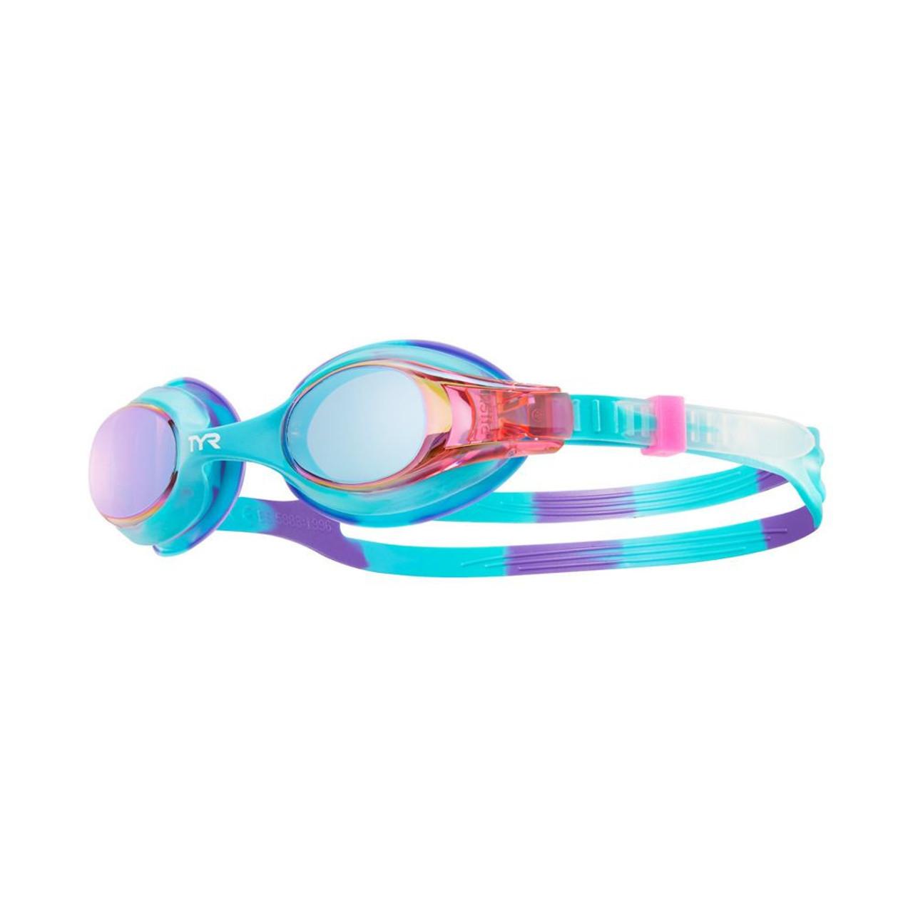 8fcc6b04ed TYR Kids Swimple Tie Dye Mirrored Goggle