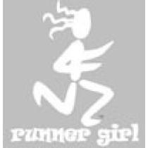BaySix Runner Girl Clear Window Decal