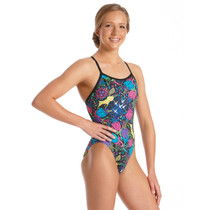 Amanzi Girls Wild Aster One Piece Swimsuit