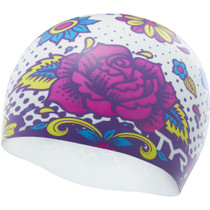 TYR Flower Power Silicone Swim Cap