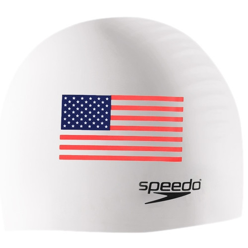 Speedo Silicone Flag Cap - White