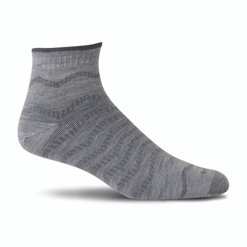 Sockwell Men's Plantar Ease Quarter Firm Compression Sock