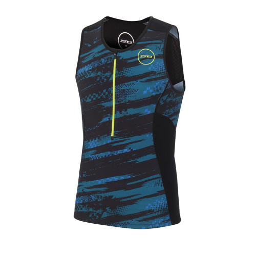 Zone3 Men's Activate Plus Full Print Tri Top