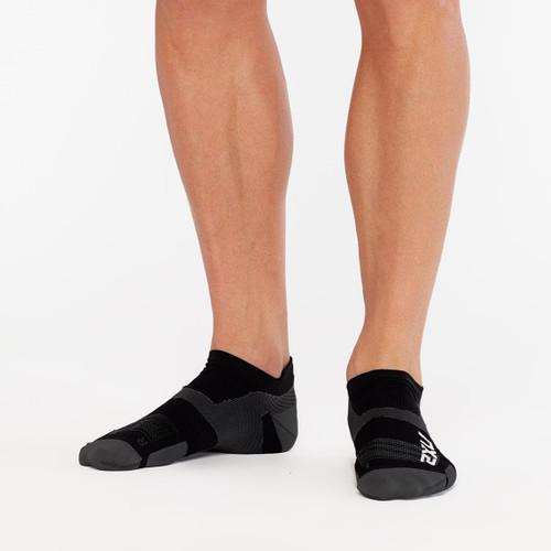 2XU Vectr Ultralight No Show Sock - Black