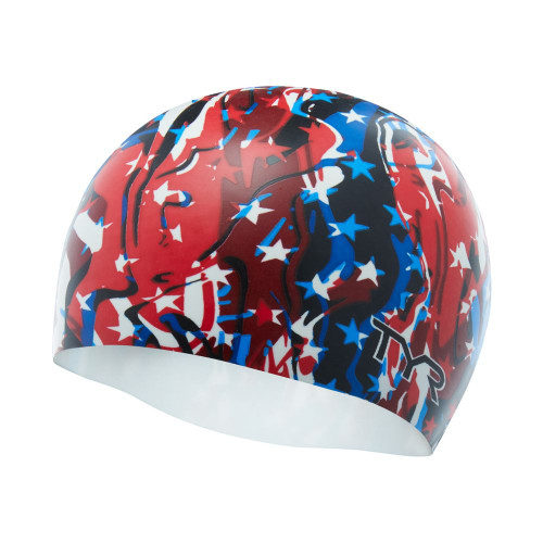 TYR Fire Cracker Silicone Swim Cap