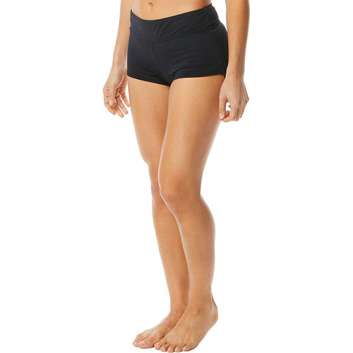 TYR Women's Solid Della Boyshort Swim Bottom