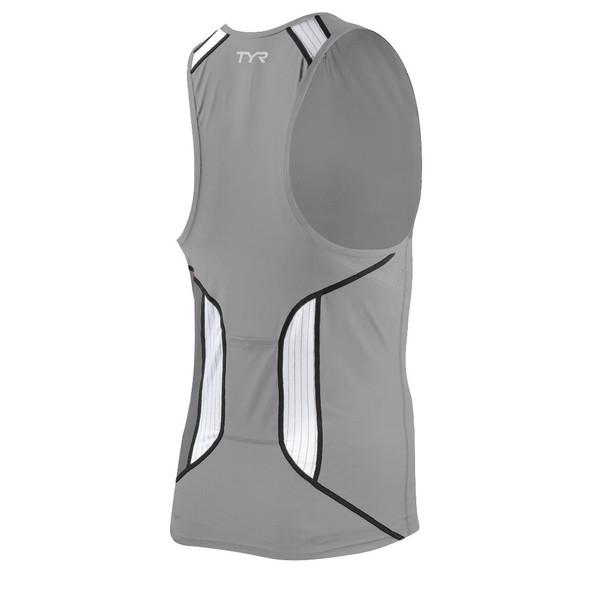 TYR Men's Carbon Tri Tank with Zipper - back