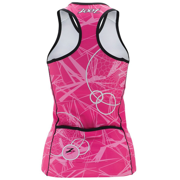 Zoot Women's Ultra Breast Cancer Research Foundation Tri Racerback Top- Back