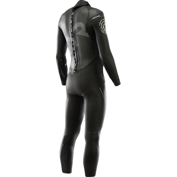 TYR Men's Hurricane Category 3 Full Sleeve Wetsuit - Back