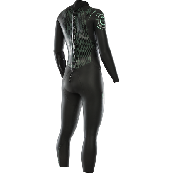 TYR Women's Hurricane Category 3 Full Sleeve Wetsuit - Back