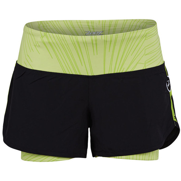 "Zoot Women's Run PCH 2 in 1 3"" Short - Spring Green"