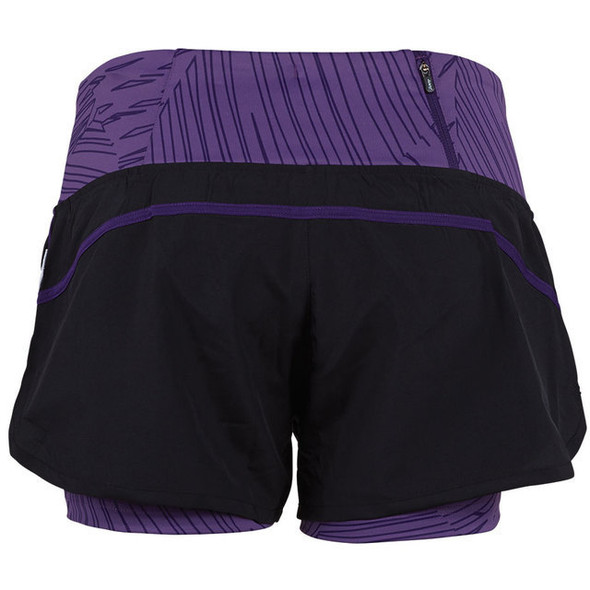 "Zoot Women's Run PCH 2 in 1 3"" Short - Back"