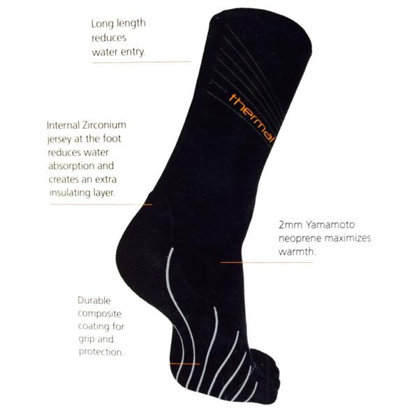 Blue Seventy Thermal Swim Sock - Back