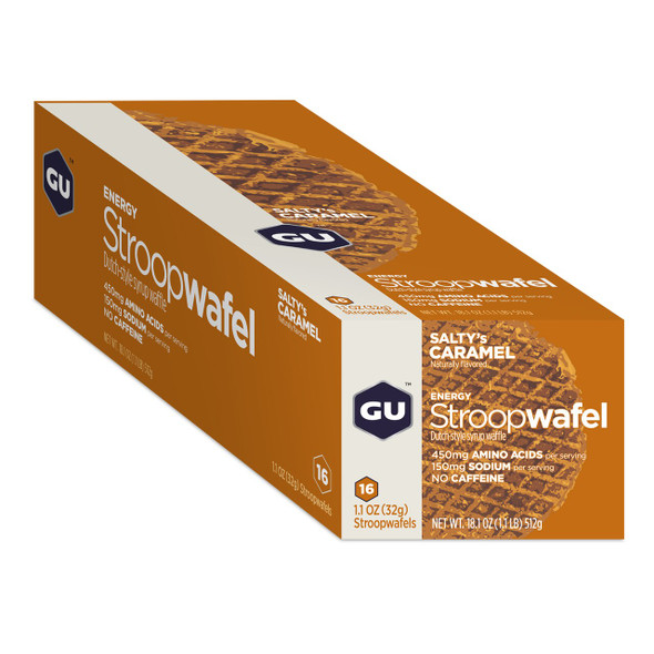 GU Energy Stroopwafel Dutch-Style Syrup Waffle - Box of 16