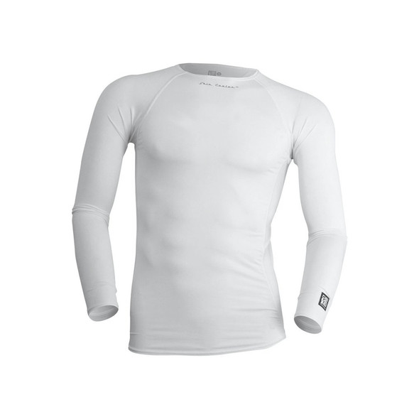 DeSoto Men's Skin Cooler Long Sleeve Tri Top - White