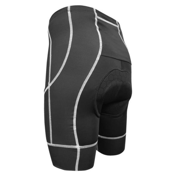 DeSoto Men's 400-Mile Cycling Short - Black/White - Back