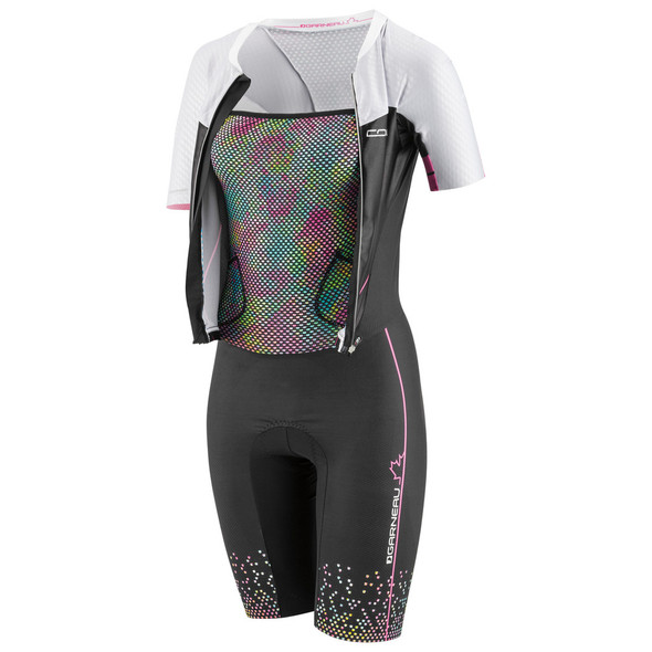Louis Garneau Women's Tri Course LGneer Skinsuit - Un-zipped