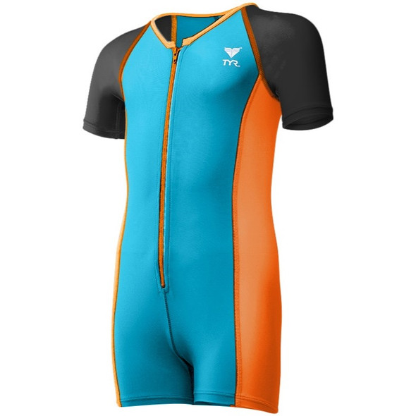 TYR Boys Solid Thermal Swim Suit