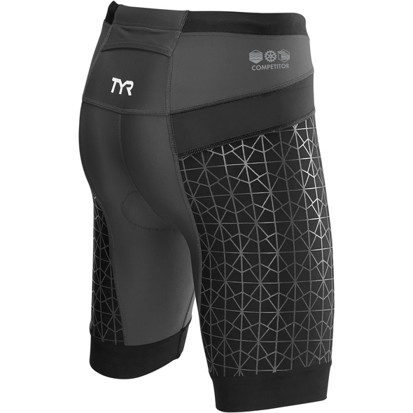 """TYR Women's 8"""" Competitor Tri Short - Back"""