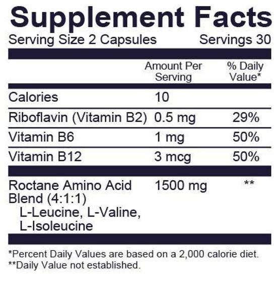 GU Roctane Ultra Endurance BCAA Capsules - Nutrition Information