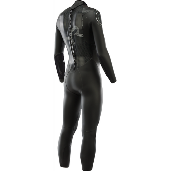 REPAIRED: TYR Men's Hurricane Category 2 Full Sleeve Wetsuit - Back