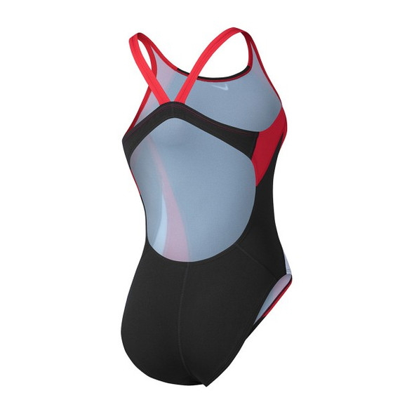 Nike Women's Poly Core Surge Fastback Tank Swimsuit - Back