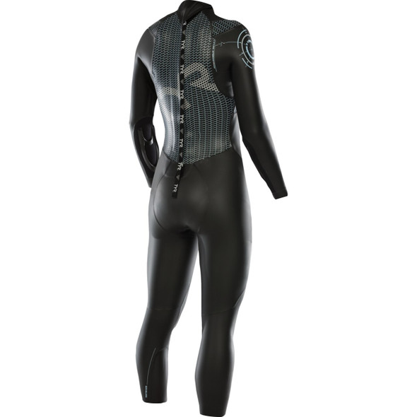REPAIRED: TYR Women's Hurricane Category 2 Full Sleeve Wetsuit - 2019 - Size L - Back