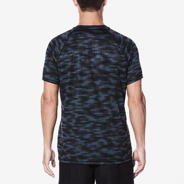 Nike Men's Blurred Short Sleeve Hydroguard - Back