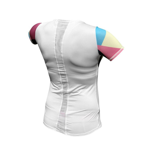 De Soto Women's Short Sleeve Skin Cooler Tri Top - Back