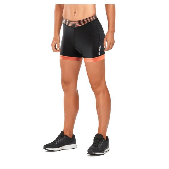 """2XU Women's Active 4.5"""" Tri Short - Sherbert"""