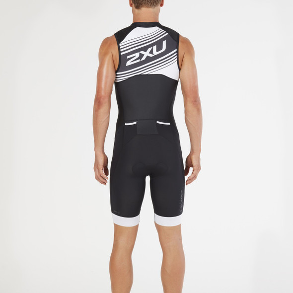2XU Men's Compression Full Zip Tri Suit - Back