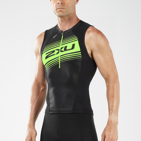 2XU Men's Compression Tri Singlet
