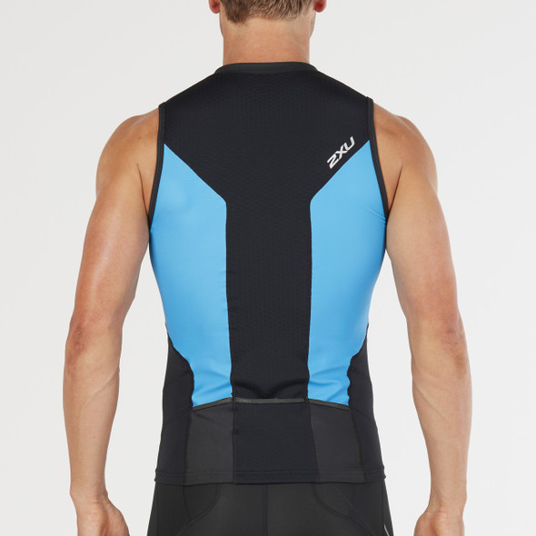2XU Men's Multisport Tri Singlet - Back