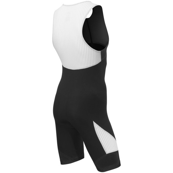TYR Men's Carbon Padded Front Zip Tri Suit - Back