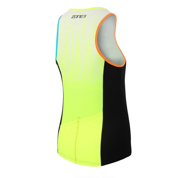 Zone3 Men's Lava Limited Edition Long Distance Tri Top - Back