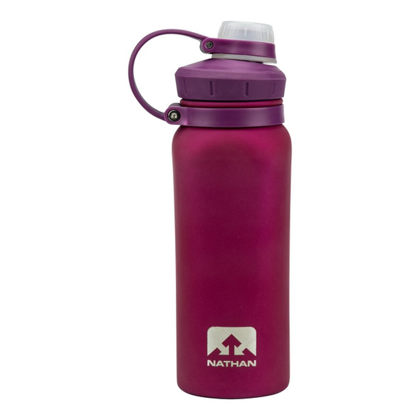 Nathan Hammerhead Rubberized Stainless Steel 24oz Water Bottle