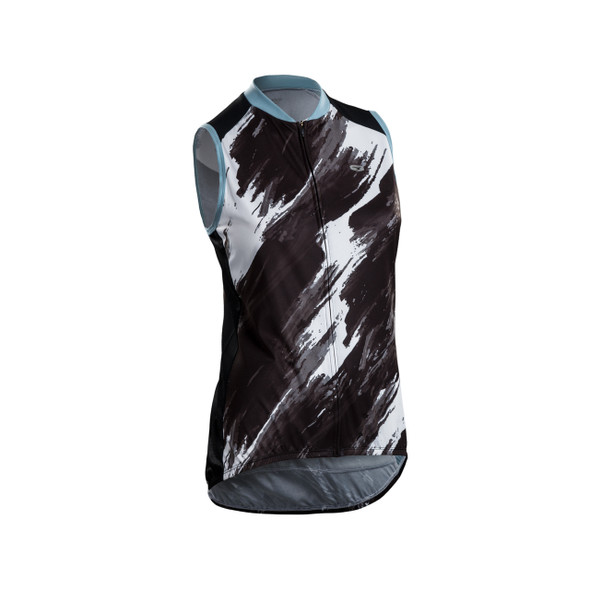Sugoi Women's Evolution Zap Brush Stroke Print Sleeveless Bike Jersey