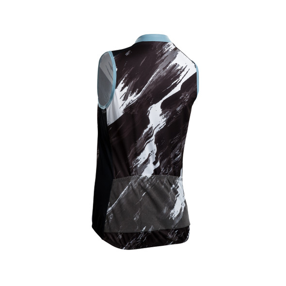 Sugoi Women's Evolution Zap Brush Stroke Print Sleeveless Bike Jersey - Back