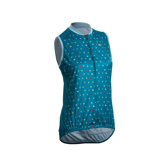 Sugoi Women's Evolution Zap Origami Print Sleeveless Bike Jersey