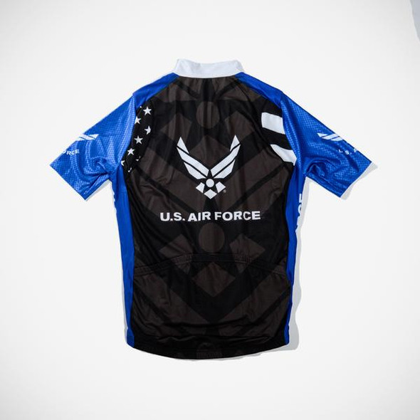 Primal Wear Men's Air Force Stars and Stripes Helix Jersey - Back