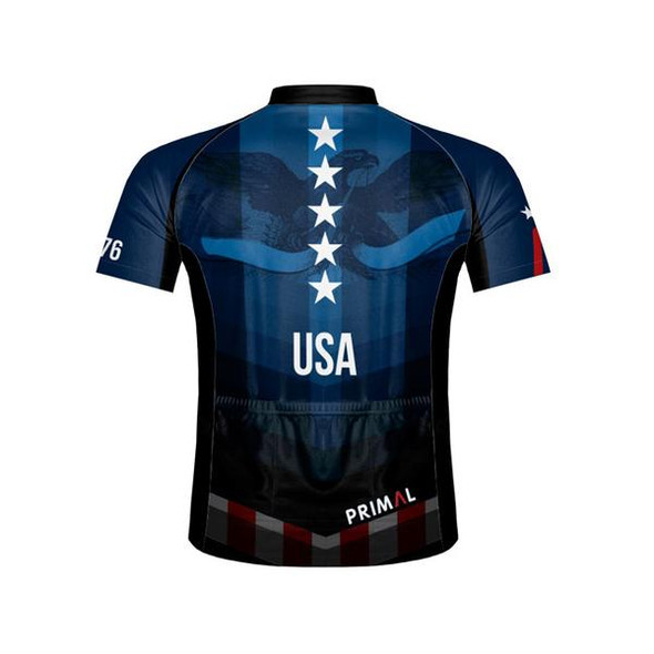 Primal Wear Men's American Patriot Cycling Jersey - Back