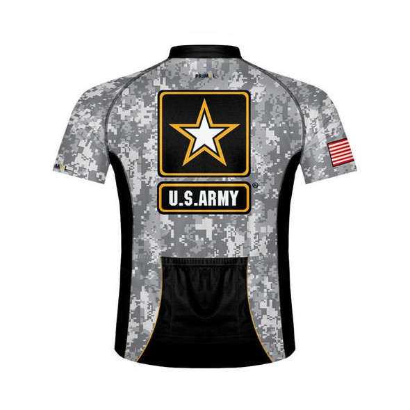 Primal Wear Men's US Army Camo Cycling Jersey - Back