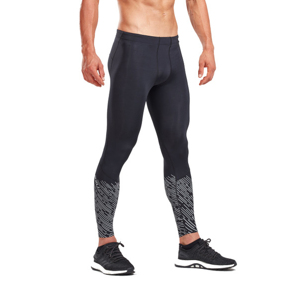 2XU Men's Reflect Run Compression Tights with Storage