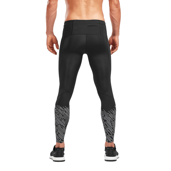 2XU Men's Reflect Run Compression Tights with Storage - Back