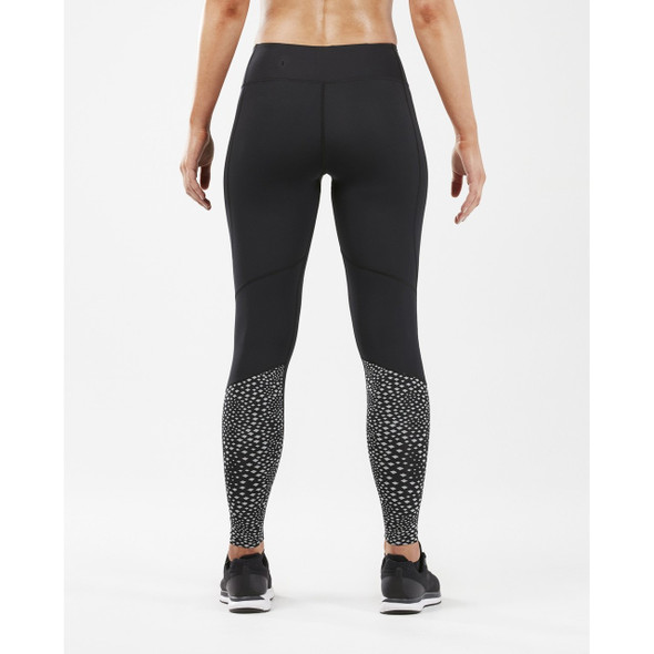 2XU Women's Reflect Mid-Rise Compression Tight with Storage - Back