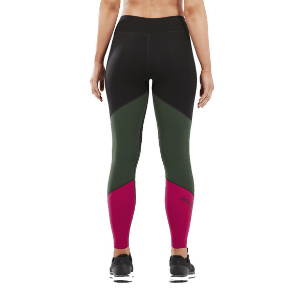 2XU Women's Fitness Mid-Rise Color Block Compression Tight - Back