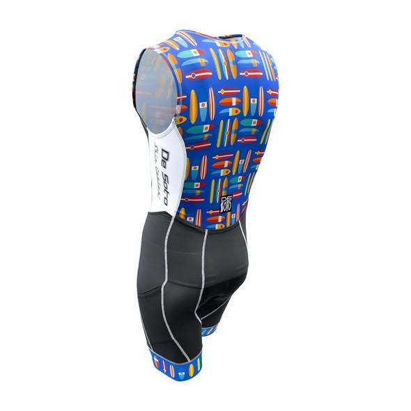 DeSoto Men's Forza Flisuit Tri Suit - Back
