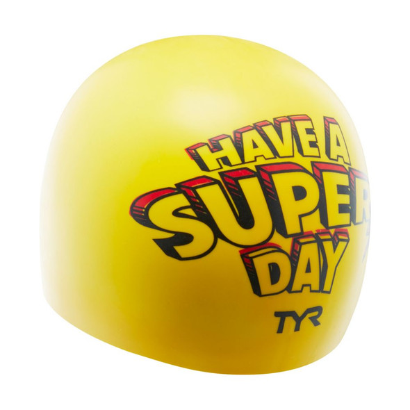TYR Super Day Silicone Swim Cap - Back