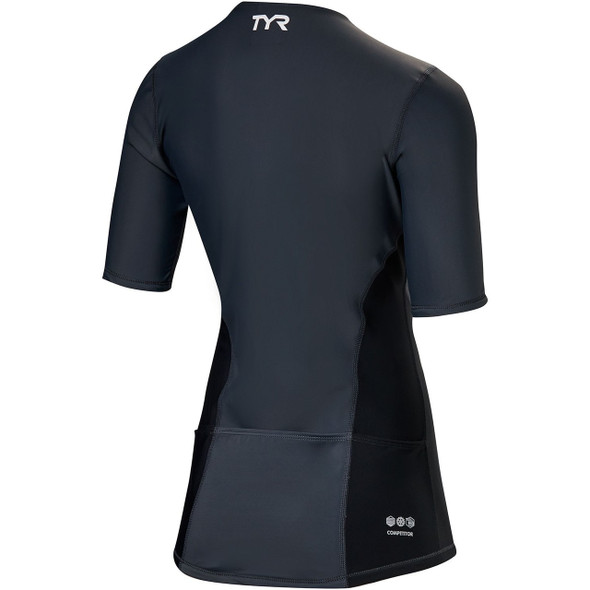 TYR Women's Competitor Short Sleeve Tri Top - Back
