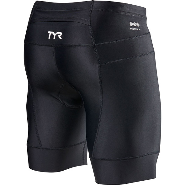 """TYR Men's 8"""" Competitor Core Tri Short - Back"""